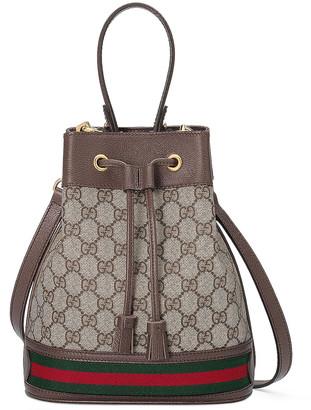 Gucci Ophidia GG Bucket Bag in Beige Ebony   FWRD