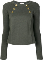 RED Valentino button embellished jumper