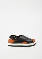 Marni black / limestone fussbett sandal