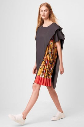French Connection Eloise Drape Printed Pleated dress