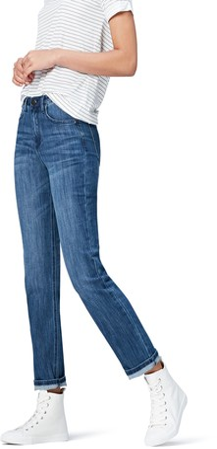 Find. Women's Straight Leg Mid Rise Jeans Blue Wash W36 x L32