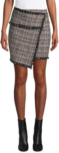 Passionate Tweed Fringe Short Skirt