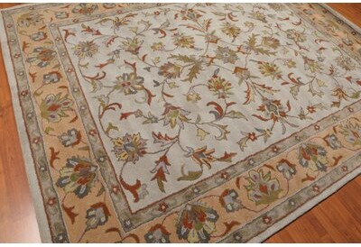 Canora Grey Galilee Traditional Persian Hand Tufted 8 X 10 Wool Blue Camel Area Rug Shopstyle