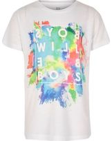 River Island Boys white splatter print t-shirt