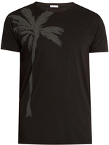 Tomas Maier Palm-print cotton T-shirt