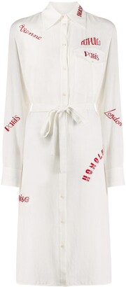 Victoria Victoria Beckham City-Embroidered Shirt-Dress