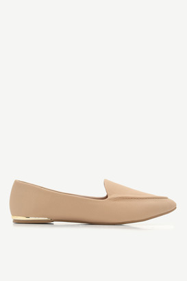 Ardene Pointy Snakeskin Loafers