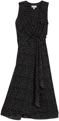 Robbie Bee Dot Print Sleeveless Midi Dress