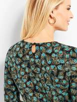 Talbots Cashmere Keyhole-Back Sweater - Peacock Feathers
