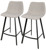 Lumisource Outlaw Industrial Counter Stools (Set of 2)