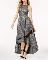 Sachin + Babi SB by Metallic-Print Mesh-Inset Evening Gown, Created for Macy's
