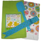 In the Mix Chicks and Easter Eggs Kitchen Set - Dish Towels and Spatula (3 Items)