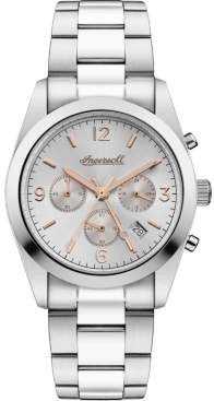 Ingersoll Universal Chronograph with Stainless Steel Case and Bracelet and Silver Dial