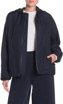 Vince Nylon Zip Front Hoodie Jacket