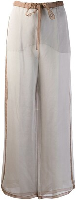 Missoni Pre-Owned 2000's Silk Crepe Wide-Legged Trousers