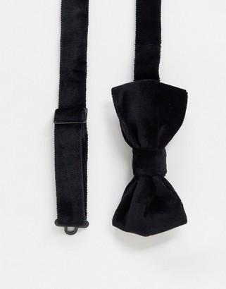 Devils Advocate velvet bow tie