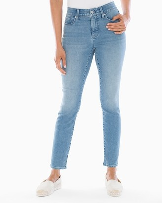 Soma Intimates Style Essentials Slimming 5 Pocket Jeans Light Wash SH