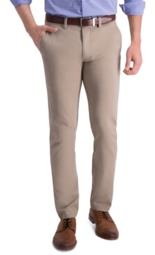 Kenneth Cole Reaction Men's Slim-Fit Four-Way Stretch Solid Twill Chino Pants
