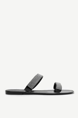 Ardene Rhinestone Jelly Sandals
