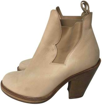 Acne Studios Star Beige Leather Boots