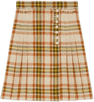 Gucci Check wool skirt with Horsebits