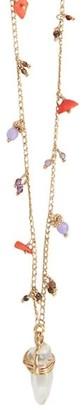 Gas Bijoux Cristol 24K Goldplated, Multicolor Quartz Long Necklace