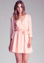 Bebe Silk Belle Sleeve Dress
