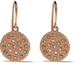 Brooke Gregson 14kt rose gold mini Mars diamond earrings