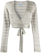 M Missoni metallic-knit wrap cardigan