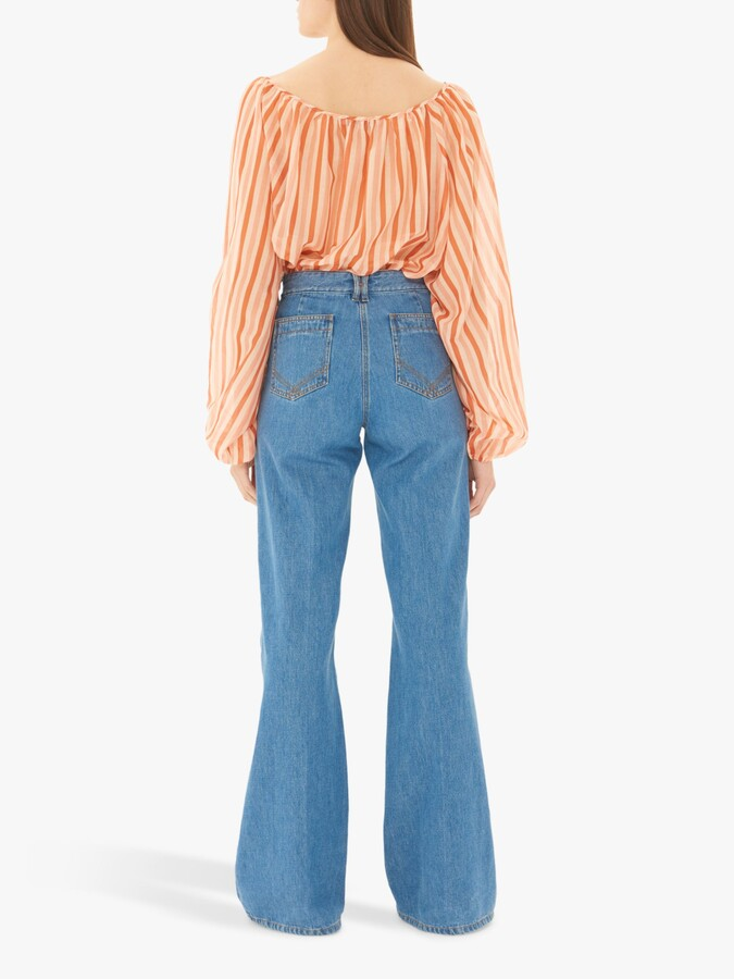 Thumbnail for your product : Gerard Darel Wide Leg Jeans, Blue