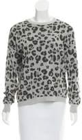 Gerard Darel Leopard Pattern Crew Neck Sweater
