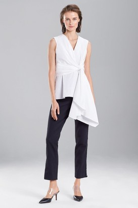 Natori Cotton Poplin Knotted Sleeveless Top