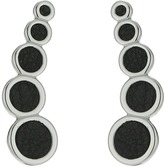 Rebecca Minkoff Leather Inlet Climber Earrings