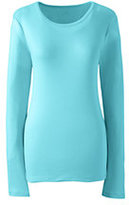 Lands' End Women's Petite Shaped Cotton Crewneck T-shirt-Gemstone Teal
