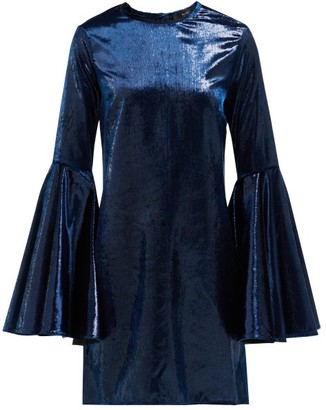 Ellery Dogma Flared-sleeve Mini Dress - Womens - Navy