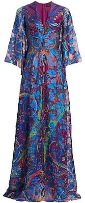 Etro Paisley Lurex Gown