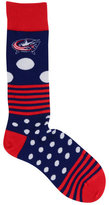 For Bare Feet Columbus Blue Jackets Dots and Stripes 538 Socks