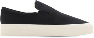 The Row 10mm Marie H Cotton Canvas Sneakers