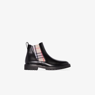 Burberry black Vintage Check Chelsea boots