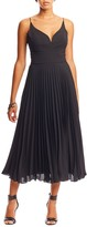 Nicole Miller Sweetheart Sunburst Pleated Dress