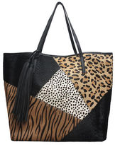 Sondra Roberts Patchwork Leather Tote