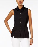 Charter Club Peplum Sleeveless Blouse, Only at Macy's