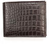 Unico Corp. Men's Brown Croc-embossed Leather Bi-fold Wallet