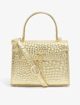 Launer Judi croc-embossed leather tote bag