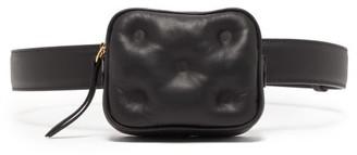 Maison Margiela Glam Slam Padded Leather Belt Bag - Womens - Black