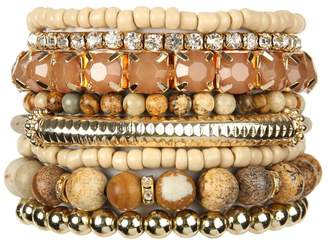Riah Fashion Stackable-Beads Bracelet Set
