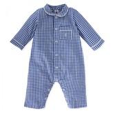 Petit Bateau Blue Gingham All in One Pyjama