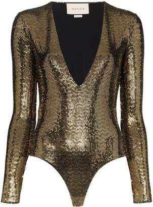 Gucci Sequinned Bodysuit