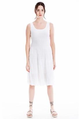 Max Studio Women's Textured Sleeveless A-Line Dress