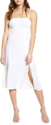 Rowa Sleeveless Tie Strap Midi Dress